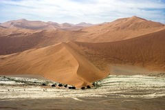 Sossusvlei Desert - seen from plane Royalty Free Stock Images