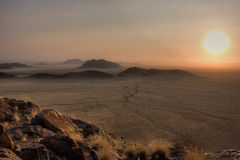 Sossusvlei Dune National park. Sossusvlei at sunset where the red iron oxide dunes are static Royalty Free Stock Photo