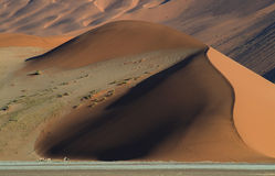 Sossusvlei Dunes. Red Dunes near Sossusvlei, Namibia Stock Photo