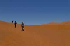 Sossusvlei dunes. Namibian desert. Walking on red dunes from Sossusvlei Namibia royalty free stock photos