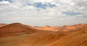 Sossusvlei dunes. Red dunes against clear blue sky. Sossusvlei, Namib desert, Namibia stock image