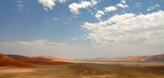 Sossusvlei dunes. Red dunes against clear blue sky. Sossusvlei, Namib desert, Namibia Royalty Free Stock Photography