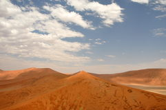 Sossusvlei dunes. Red dunes against clear blue sky. Sossusvlei, Namib desert, Namibia Stock Photo