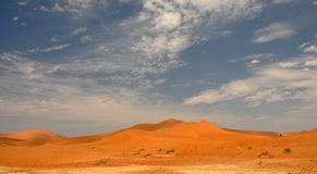 Sossusvlei dunes. Red dunes against clear blue sky. Sossusvlei, Namib desert, Namibia Royalty Free Stock Photo
