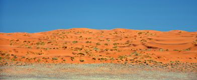 Sossusvlei dunes. Red dunes against clear blue sky. Sossusvlei, Namib desert, Namibia Stock Photography