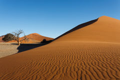Sossusvlei dunes. Red dunes on the road to Sossusvlei, Namibia Stock Photo