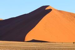 Sossusvlei dunes. Red dunes on the road to Sossusvlei, Namibia Royalty Free Stock Photos