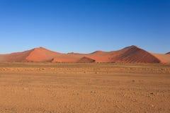 Sossusvlei dunes. Red dunes on the road to Sossusvlei, Namibia Royalty Free Stock Image