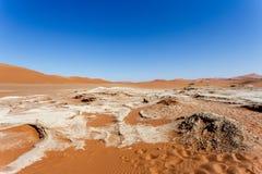 Sossusvlei härligt landskap av Death Valley Arkivfoto