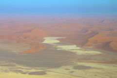 Sossusvlei: Namib Desert. Sossusvlei: Flying over the Namib Desert Royalty Free Stock Image