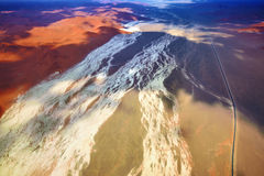 Sossusvlei, Namib Naukluft National Park, Namibia. Aerial view on the beautiful landscape of the Namib desert, Sossusvlei, Namib Naukluft National Park, Namibia Royalty Free Stock Photo