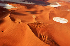 Sossusvlei, Namib Naukluft National Park, Namibia. Aerial view on the beautiful landscape of the Namib desert, Sossusvlei, Namib Naukluft National Park, Namibia Royalty Free Stock Photos