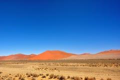 Sossusvlei, Namib Naukluft National Park, Namibia. Beautiful landscape with big red dunes at sunrise, Sossusvlei, Namib Naukluft National Park, Namibia royalty free stock photos
