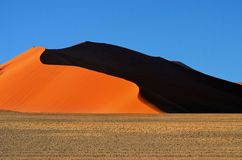 Sossusvlei, Namib Naukluft National Park, Namibia. Beautiful landscape with red dunes at sunrise, Sossusvlei, Namib Naukluft National Park, Namibia, Africa Royalty Free Stock Photography