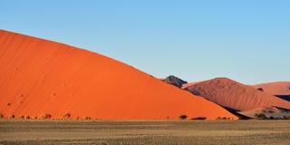 Sossusvlei, Namib Naukluft National Park, Namibia. Beautiful landscape with red dunes at sunrise, Sossusvlei, Namib Naukluft National Park, Namibia, Africa royalty free stock photos