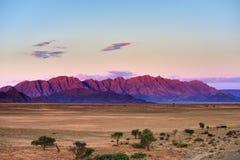 Sossusvlei, Namib Naukluft National Park, Namibia. Beautiful namibian landscape at sunset, Sossusvlei, Namib Naukluft National Park, Namibia. View from royalty free stock images