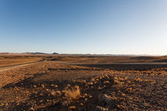 Sossusvlei. Panorama trought red dunes from Sesriem to Sossusvlei, Namibia Royalty Free Stock Photo