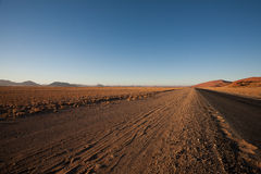 Sossusvlei. Panorama trought red dunes from Sesriem to Sossusvlei, Namibia Stock Photography