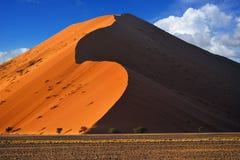 Sossusvlei, parco nazionale di Namib Naukluft, Namibia Immagine Stock Libera da Diritti
