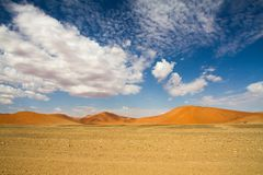 Sossusvlei park, Namibia. The red sand dunes of Sossusvlei park, Namibia stock image