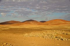 Sossusvlei park, Namibia. The sand dunes of Sossusvlei park, Namibia Stock Photos