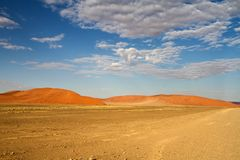 Sossusvlei park, Namibia. The sand dunes of Sossusvlei park, Namibia Royalty Free Stock Image