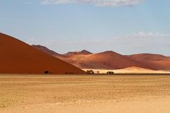 Sossusvlei park, Namibia. The sand dunes of Sossusvlei park, Namibia Royalty Free Stock Photo
