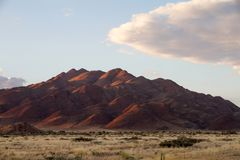 Sossusvlei park, Namibia. Sunrise in the Sossusvlei park, Namibia Stock Photography
