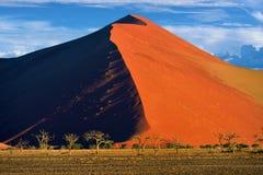 Sossusvlei, parque nacional de Namib Naukluft, Namibia Foto de archivo libre de regalías