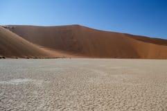 Sossusvlei Salt Pan Desert Landscape with Dune, Namibia. Sossusvlei Salt Pan Desert Landscape with a Dune, Namibia Stock Photos