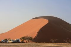 Sossusvlei sand dune 45 in the national park Royalty Free Stock Photo