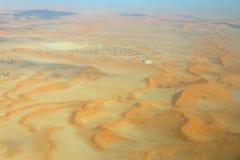 Sossusvlei: sand dunes. Sossusvlei: Flying over the Namib Desert Royalty Free Stock Image