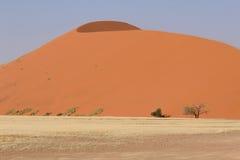 Sossusvlei sand dunes landscape in Nanib desert. Sossusvlei sand dunes landscape in the Nanib desert near Sesriem, Namibia Royalty Free Stock Image
