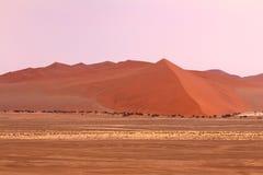 Sossusvlei: Sand dunes. In the Namib Desert, Namibia Stock Image