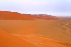 Sossusvlei: Sand dunes. In the Namib Desert, Namibia Stock Images