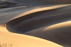 Sossusvlei Sand Dunes, Namib Naukluft National Park, Namib desert, scenic travel destination in Namibia, Africa. Sossusvlei Sand Dunes, Namib Naukluft National Stock Photography
