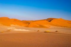 Sossusvlei Sand Dunes, Namib Naukluft National Park, Namib desert, scenic travel destination in Namibia, Africa. Royalty Free Stock Photos