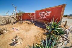 Sossusvlei stróżówki wejście, Namibia Fotografia Stock