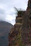 Sosta archaeological di Pisac del Inca delle scale immagini stock libere da diritti