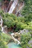 Sosta croata dei laghi Plitvice - cascata Fotografie Stock Libere da Diritti