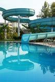Sosta del Aqua sulla piscina fotografia stock