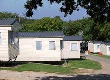 Sosta del caravan - case mobili Immagini Stock