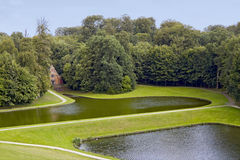 Sosta del castello di Gaasbeek fotografia stock