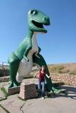 Sosta del dinosauro, città veloce, il Dakota del Sud, S.U.A. Fotografia Stock Libera da Diritti
