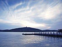 Sosta del lago Fotografia Stock