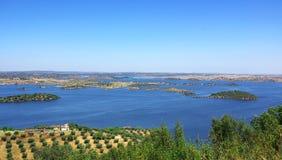 Sosta del lago Alqueva. Fotografia Stock