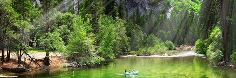 Sosta del Yosemite dopo la pioggia Fotografie Stock Libere da Diritti