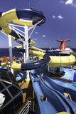Sosta dell'acqua della nave da crociera Fotografia Stock