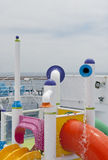 Sosta dell'acqua sulla nave da crociera Fotografie Stock