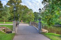 Sosta della città a Riga, Latvia. Fotografie Stock Libere da Diritti